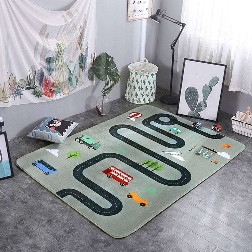 Play Mat with Car Tracks
