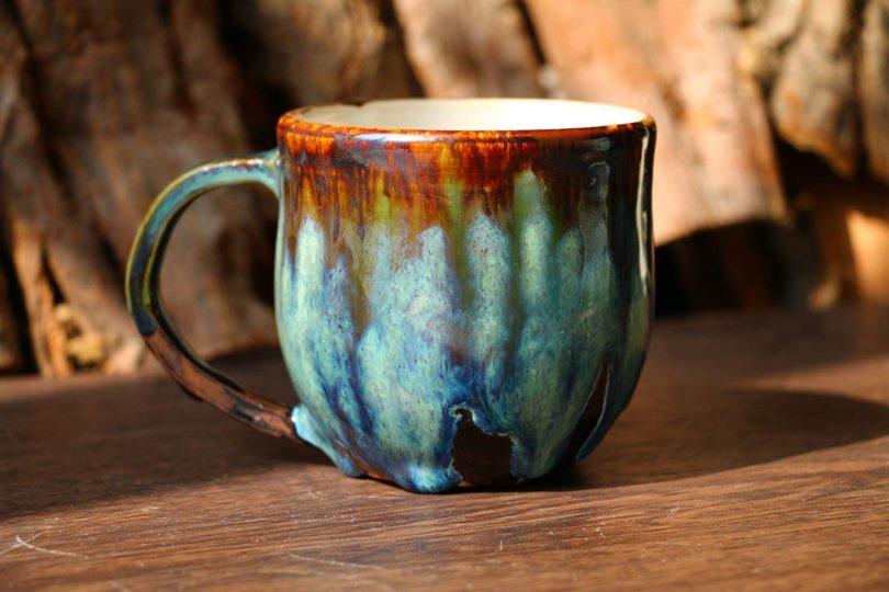 Psychedelic green mug