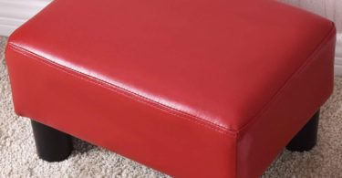 Ottoman Footrest PU Leather Footstool Rectangular Seat