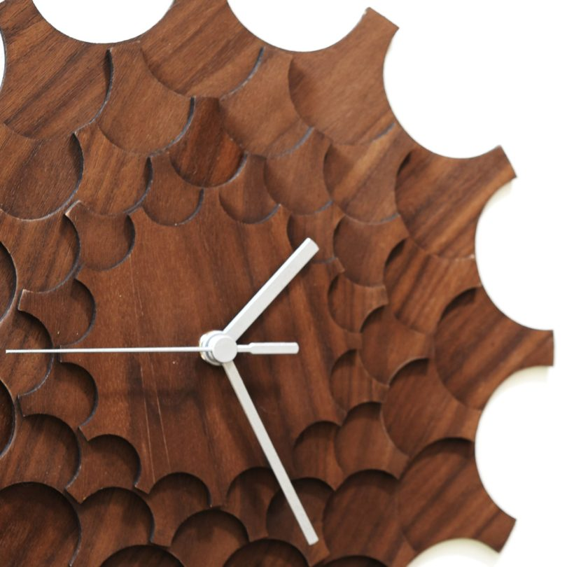Cogwheel Walnut Wall Clock