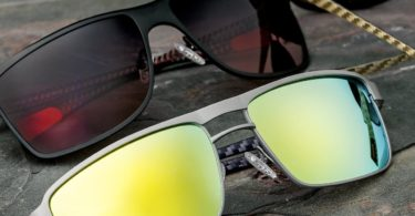 Breed Taurus Silver Carbon Fiber Sunglasses