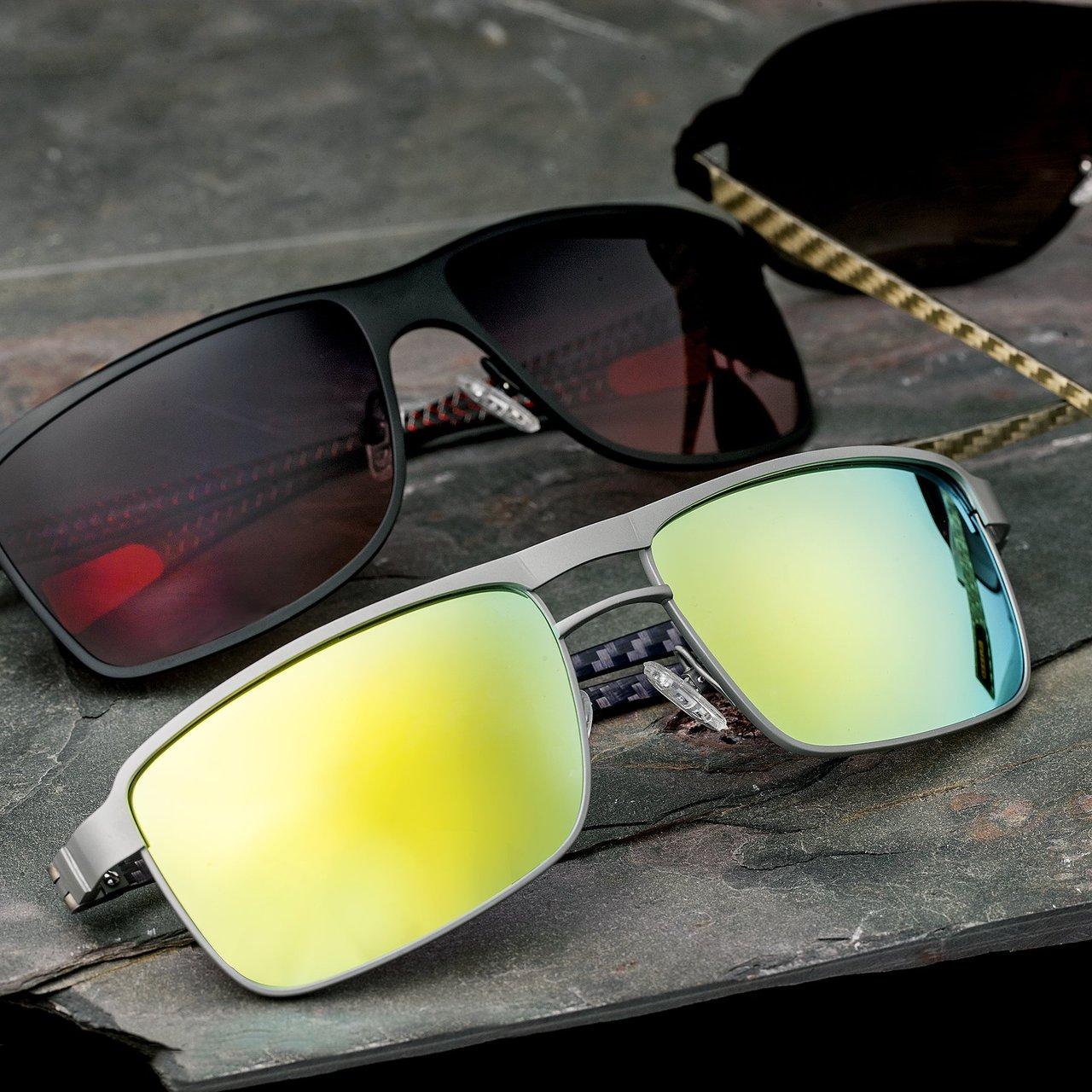 Breed Taurus Silver Carbon Fiber Sunglasses
