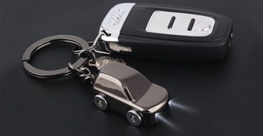 MILESI Key Chain Flashlight with 2 Modes LED Light Car Gifts for Boyfriend
