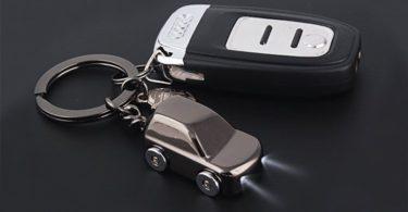 MILESI Key Chain Flashlight with 2 Modes LED Light Car Gifts for Boyfriend