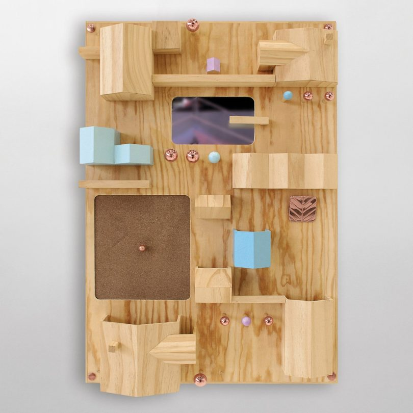 Suburbia Wooden Wall Storage by Seletti