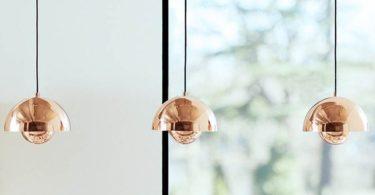 Verner Panton Flowerpot Copper Pendant