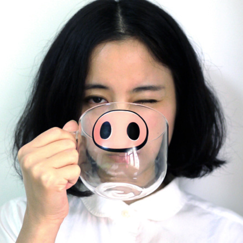 Pig Nose Pyrex Mug