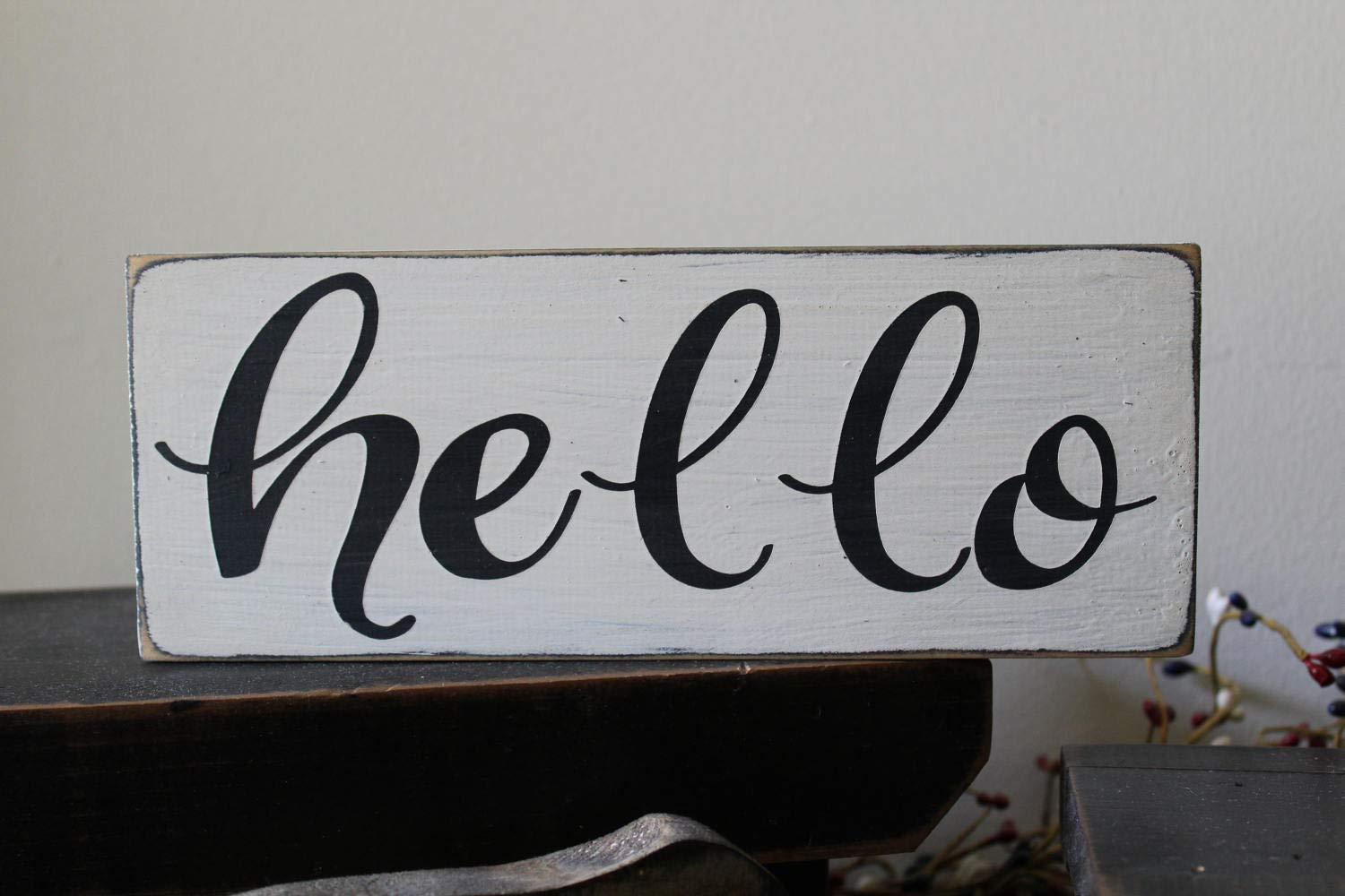 PotteLove Hello Wood Sign