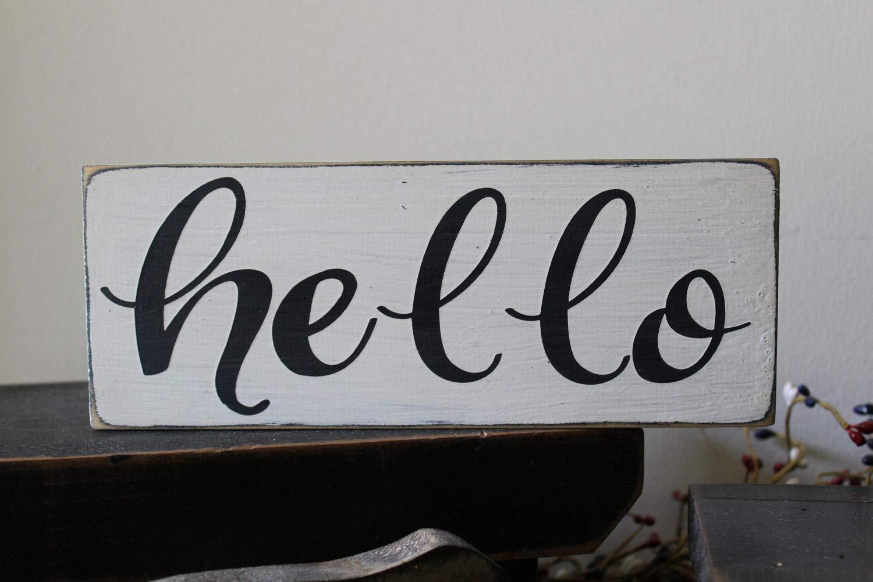 PotteLove Hello Wood Sign