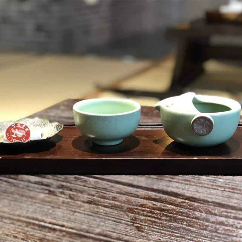 AliArchery Portable Tea Set Handmade Kung Fu Ceramic Tea for One Set-Teapot & Tea cup