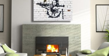Banksy Mona Lisa with Bazooka Canvas Print