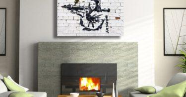 Banksy Mona Lisa with Bazooka Canvas Print