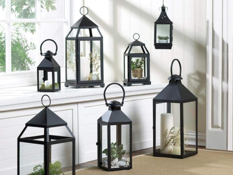 Contemporary Hanging Decorative Lantern Candle Holder