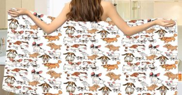 smallbeefly Dog Lover Bath Towel