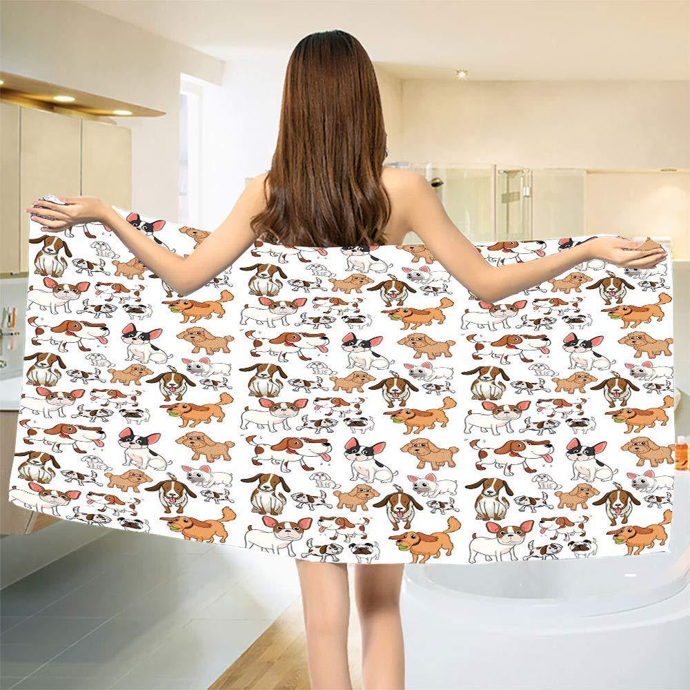 smallbeefly Dog Lover Bath Towel