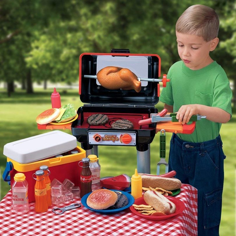 CP Toys Bar-B-Que Pretend Play Set with Grill and Accessories