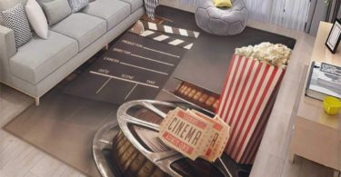 Movie Theater Girls Bedroom Rug Old Fashion