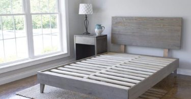 eLuxurySupply Wood Platform Bed Headboard