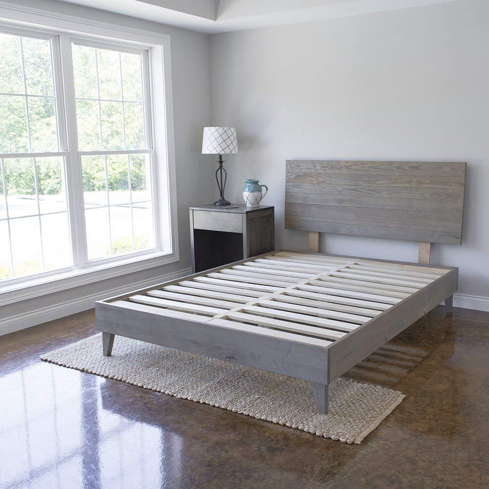 eLuxurySupply Wood Platform Bed Headboard