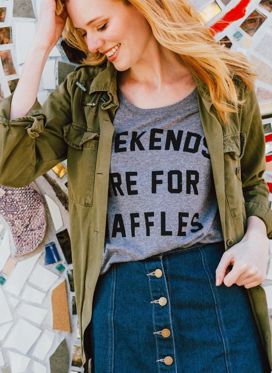 Weekends are for Waffles Dolman T-Shirt by Pyknic