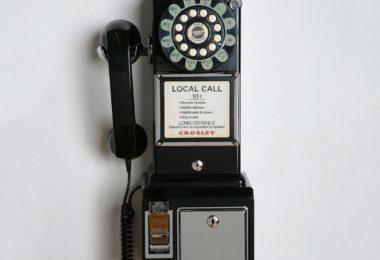 Crosley 1950's Retro Black Payphone