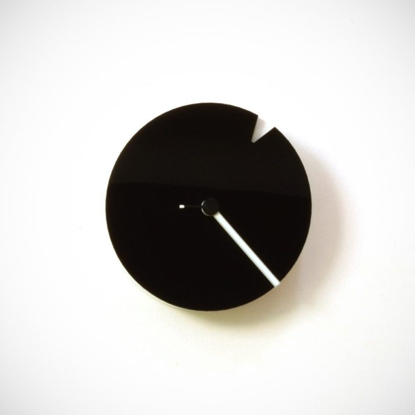 The Minimalist – Small Wood + Acrylic Wall Clock in Black & White
