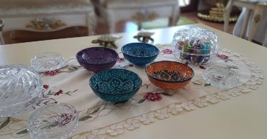 Bead Global Traditional Turkish Decorative Ceramic Bowls