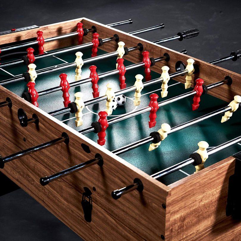 Lancaster 48″ 3 in 1 Pool Billiard Slide Hockey Foosball Combo Arcade Game Table