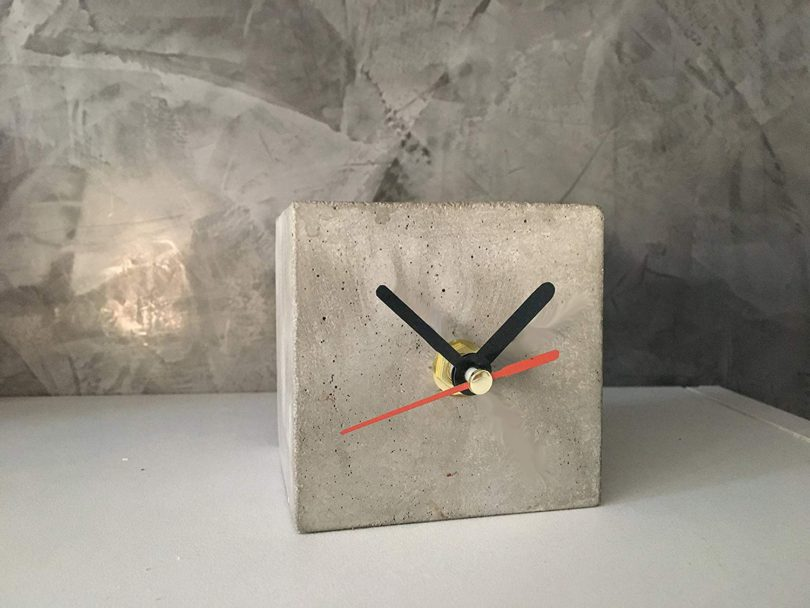 Concrete clock table cube