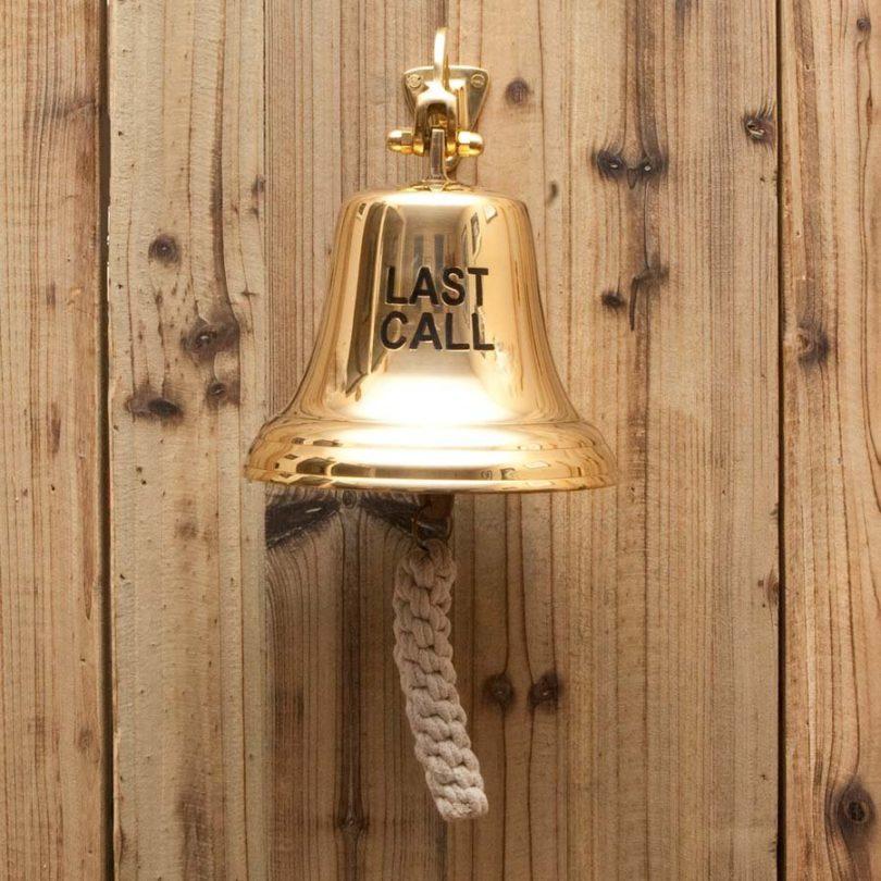 Last Call Brass Ships Bell