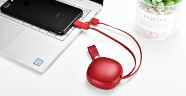 Genuine Leather 2-in-1 Charger Cable