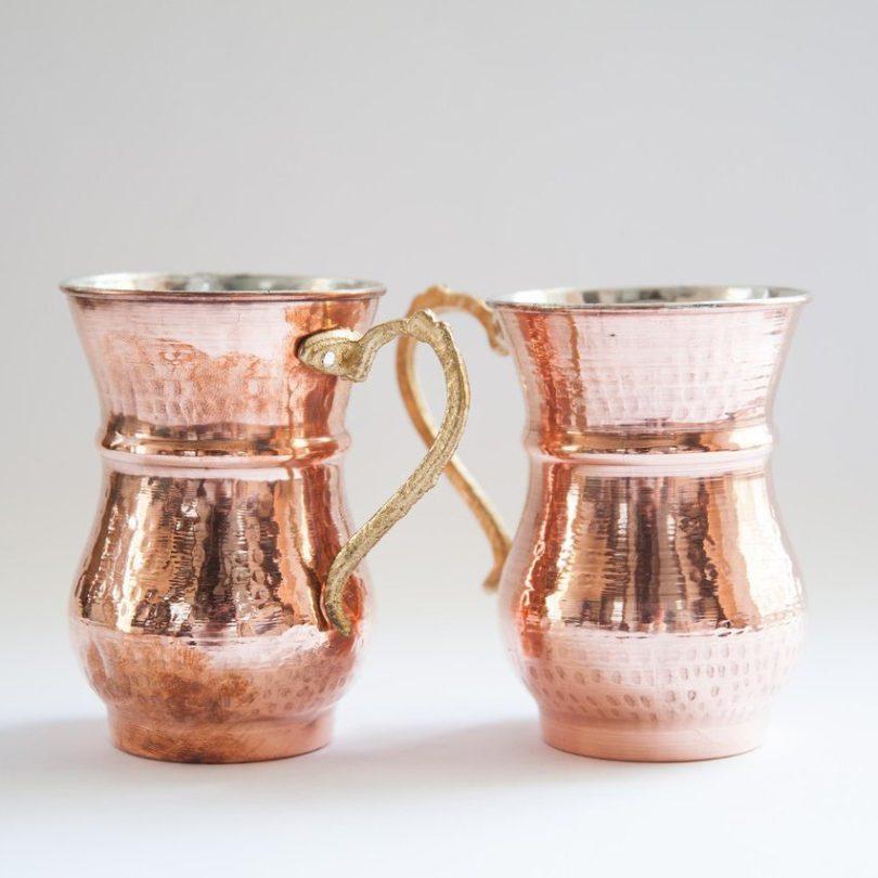 Turkish Handmade Copper Mug Set