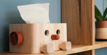 Wooden Tissue Box Dispenser
