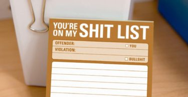 Sh*t List Sticky Notes