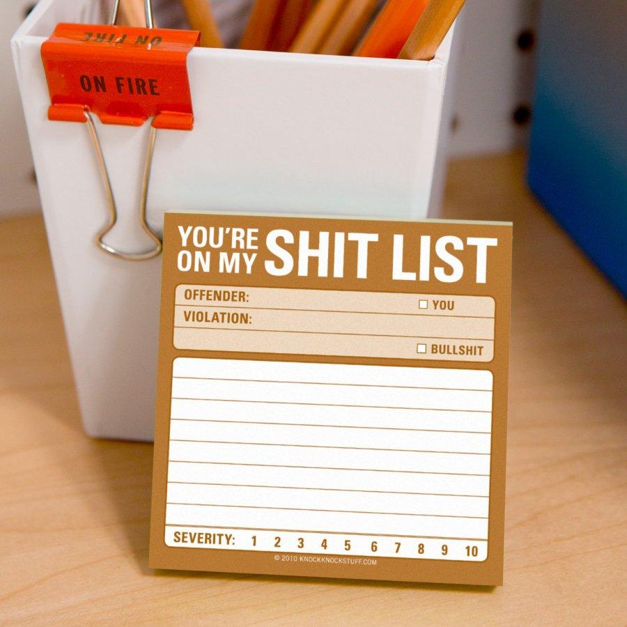 Sh*t List Sticky Notes