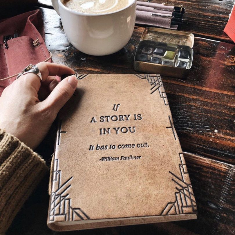 If A Story Handmade Blonde Leather Journal