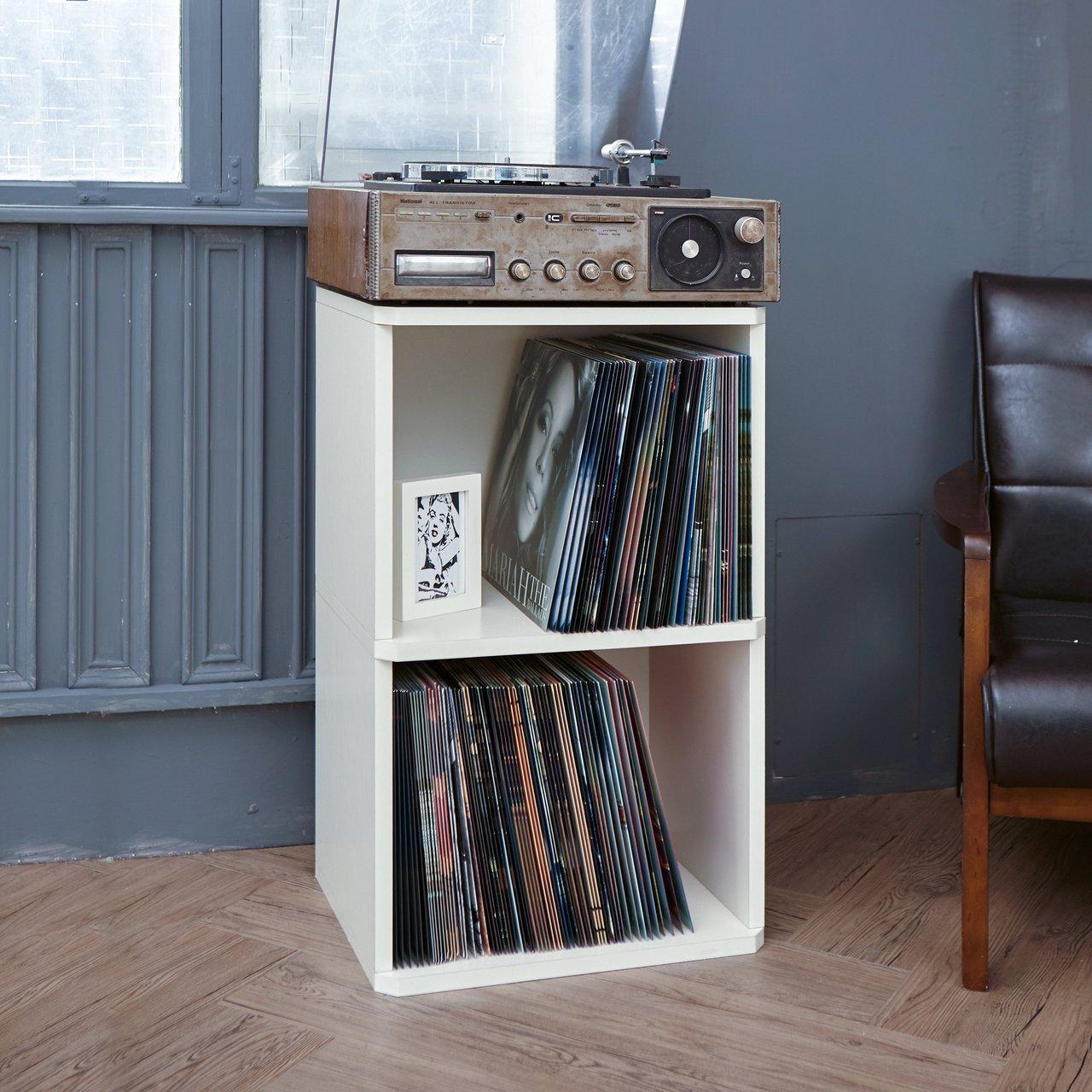 Two Shelf Eco Friendly Vinyl Record Cube