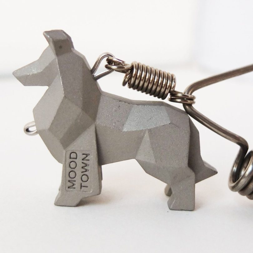 Handcrafted Stainless Steel Rough Collie Keychain