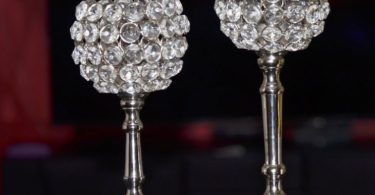 Hurricane Crystal Candle Holder Set