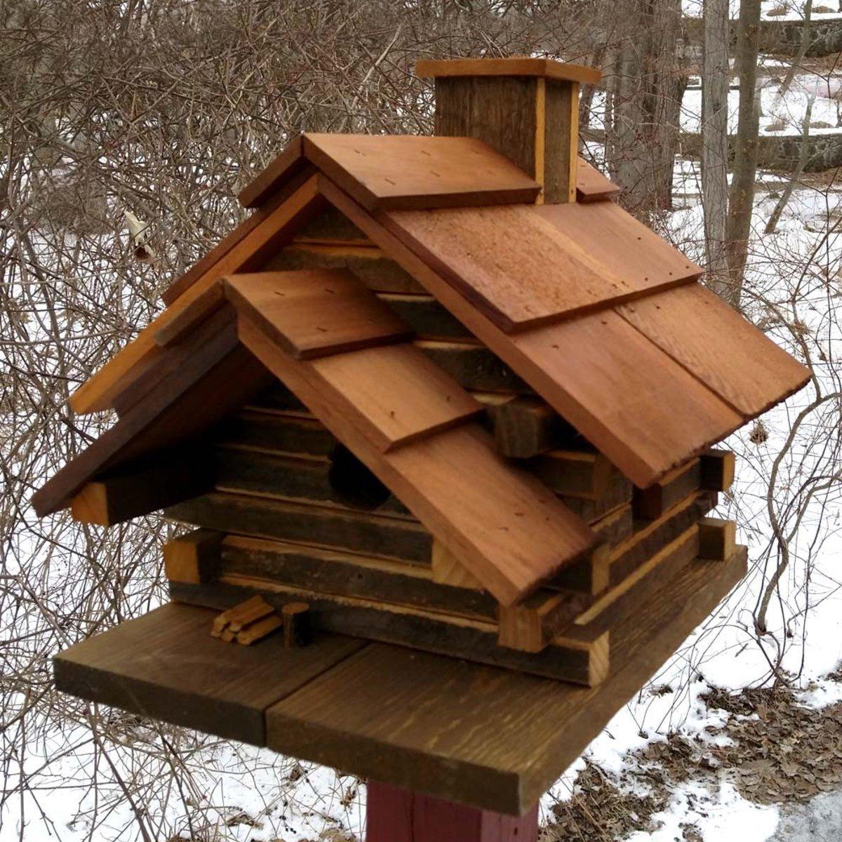 Conestoga Log Cabin Birdhouse