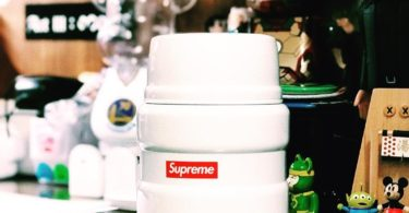Supreme Thermos Stainless King Food Jar and Spoon White