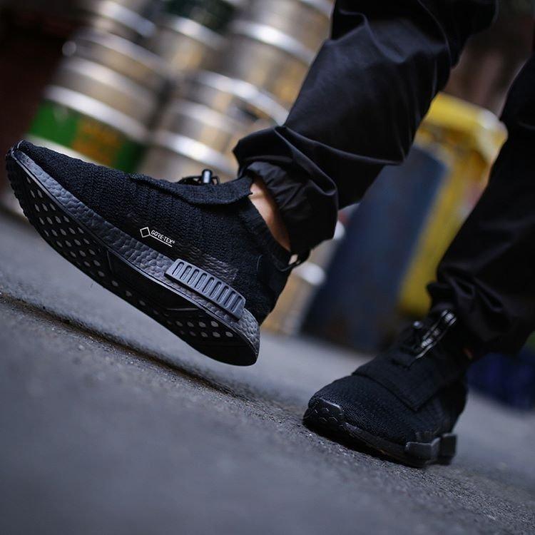 adidas NMD TS1 Gore Tex Triple Black Sneakers
