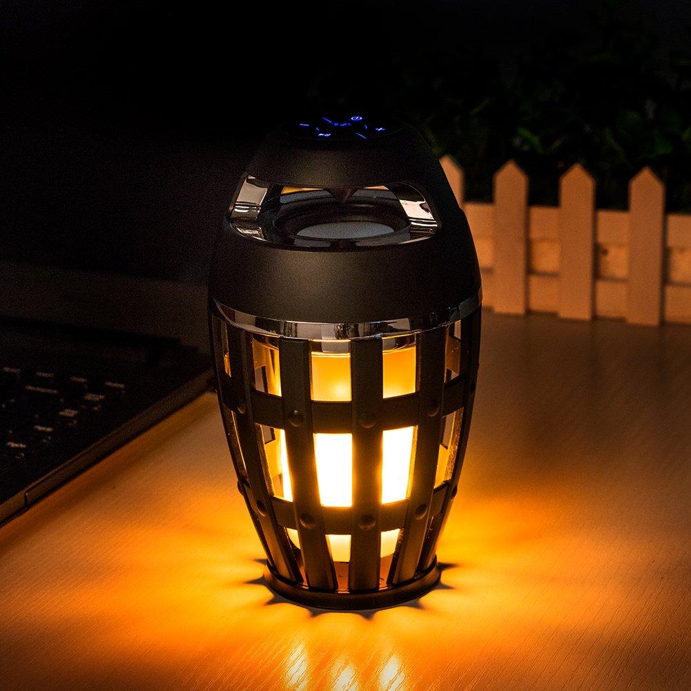 LED Flame Lights Bluetooth Speaker