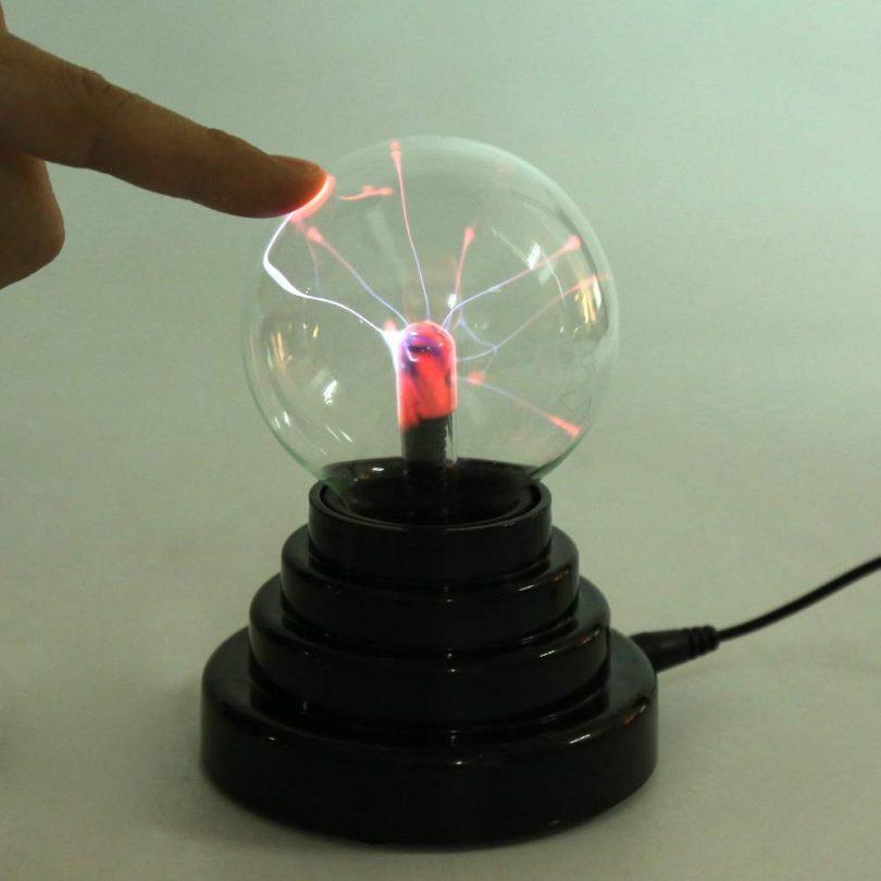 Fdit Creative Ball Light Plasma Ball Lamp Light Touch Sensitive Nebula Sphere Globe Novelty Toy USB or Battery Powered Party Gift Desk Lamp Bedroom Office Decor