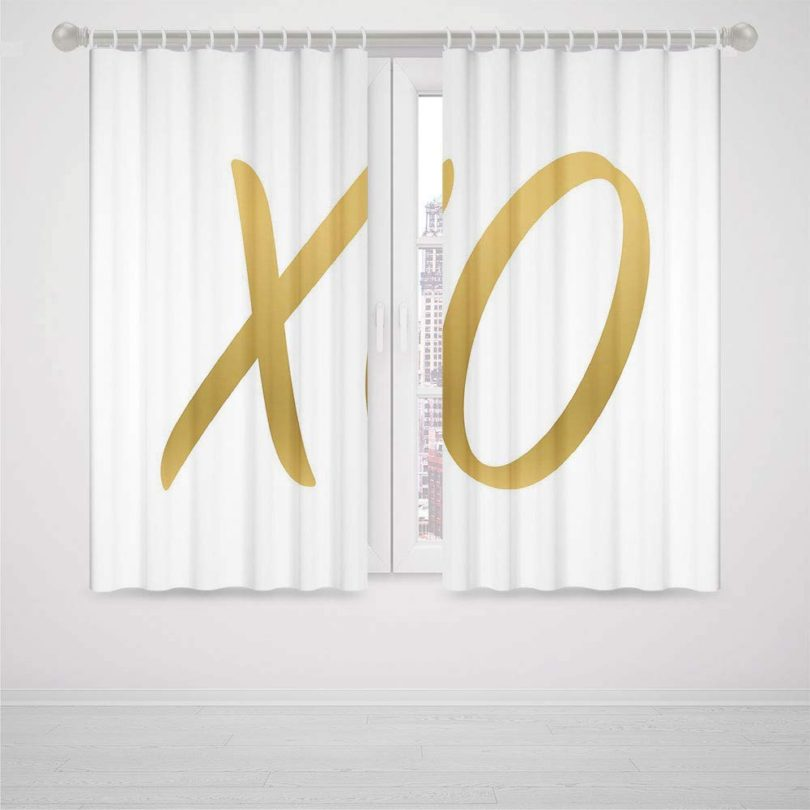 iPrint neon Curtains for Bedroom Xo Decor