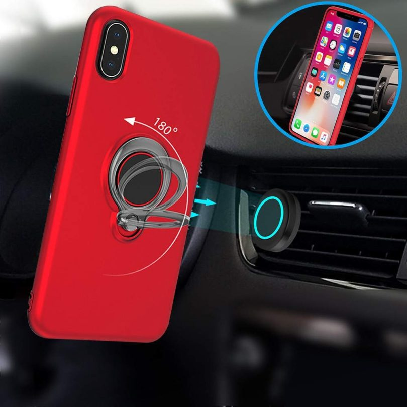 MiniPoco Phone Cover with Finger Ring Holder Stand