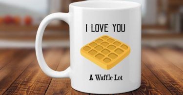 I Love You A Waffle Lot Pun 11 or 15 oz Coffee Mug