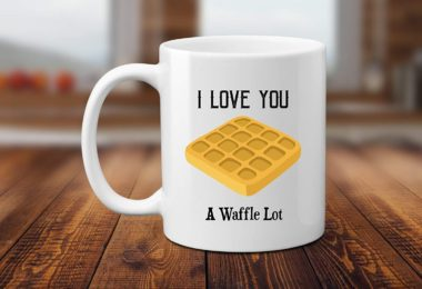I Love You A Waffle Lot Pun 11 or 15 oz Coffee Mug