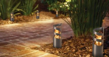 Decorpro D10120 Volution Tabletop Torch, Small, Gun Metal Grey