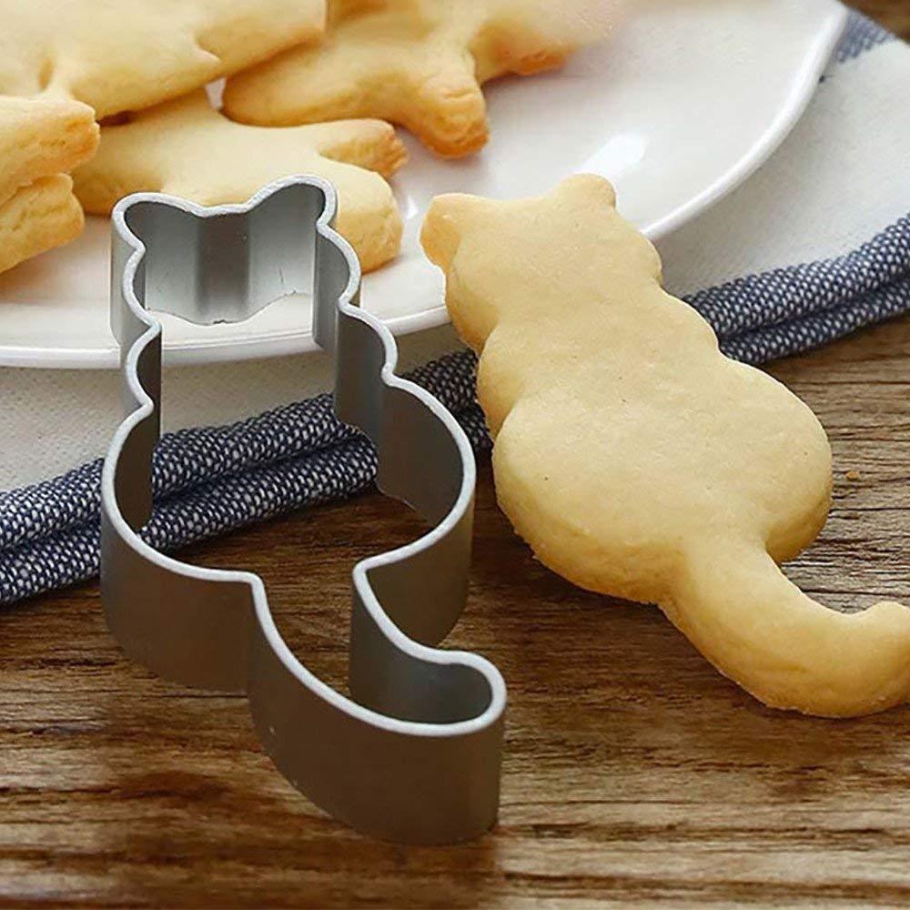 Tuscom Cartoon Animal Kitten Cutting Sugar Craft Aluminium Cake Cookies Pastry Baking Cutter Mold